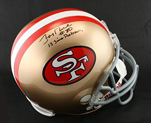 Jerry Rice Autographed Signed Sf 49ers Full Size Helmet 13 Time Pro Bowl Memorabilia - PSA/DNA Authentic (Jerry Rice Signed Pro Helmet)