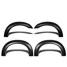 Ford Super Duty 1st Gen Pocket-Riveted Style ABS Plastic Side Fender Wheel Flares (Black)