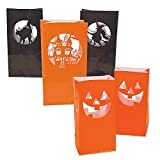 Halloween Silhouette Luminary Lantern Bag Decoration Set - 24 Bags