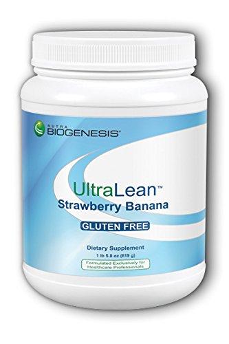 Biogenesis UltraLean Strawberry Banana - Gluten Free, Whey Based Nutrition - 1.2 (Banana Strawberry Tea)