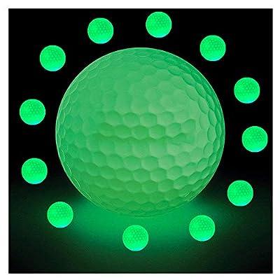 Afagolf Glow-in-The-Dark Night Golf Balls - Luminous Glow Golf Balls Rechargeable by Sunlight and Flashlight, Reusable and Glow in The Dark