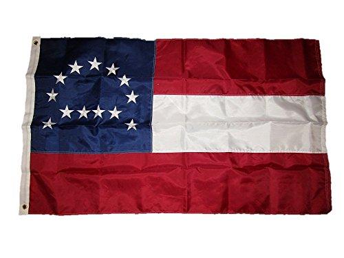 (AES 3x5 Embroidered Sewn Robert E. Lee 210D Duramax Nylon Flag 3'x5')