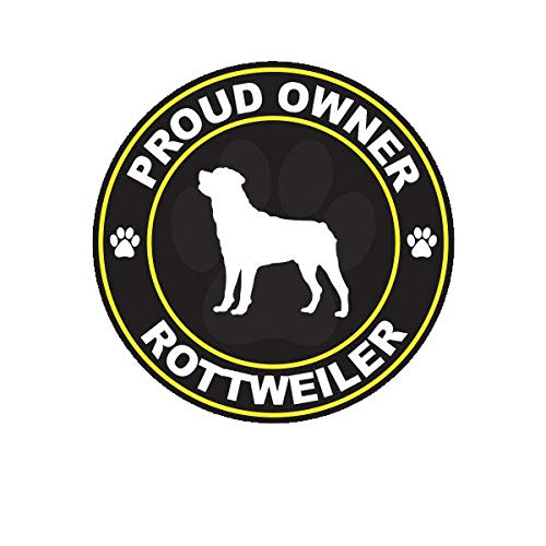 Morgan Graphics Proud Owner Rottweiler Sticker Decal Vinyl Dog Canine pet Vinyl Decal Sticker Car Waterproof Car Decal Bumper Sticker 5