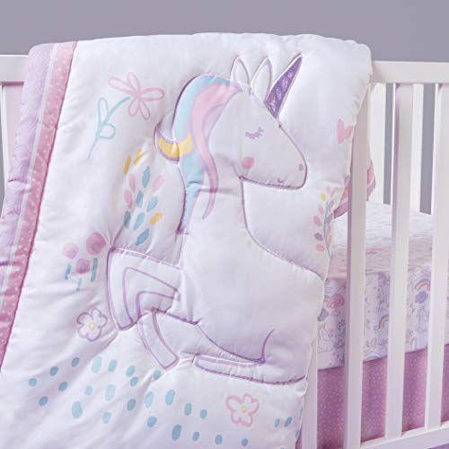 Sammy & Lou Sammy & Lou Sweet Unicorn 4Piece Crib Bedding Set