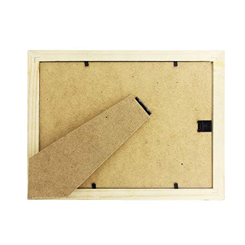 Diswoe 6x8 Black Picture Frame Made of Solid Wood with Mat to Display Pictures Photo Frame for Wall & Tabletop - Wall Mounting Material Included by Diswoe (Image #6)