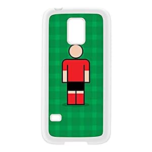 Mallorca White Silicon Rubber Case for Galaxy S5 Mini by Blunt Football European + FREE Crystal Clear Screen Protector