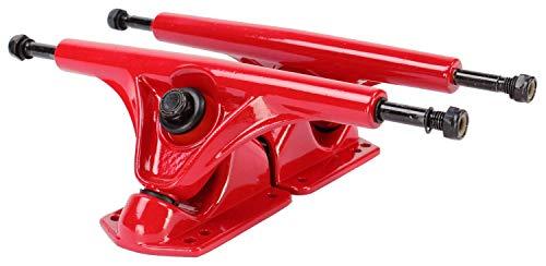 Blank 180mm Reverse Kingpin Longboad Trucks (Red) ()