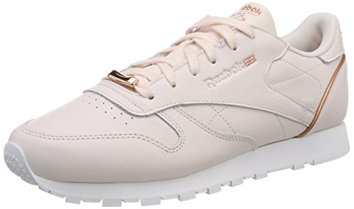 Reebok Rosa Classic Pink Donna Hardware Sneaker Leather Rose Gold White Pale qZqXpArx