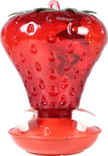 Audubon NA5540 991010 40 oz Cap Strawberry Hummingbird Feeder, Red