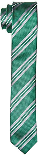 Harry Potter Thin Tie Striped Gryffindor Ravenclaw Hufflepuff Slytherin House Crest Necktie Neckwear