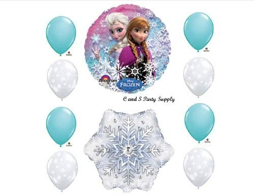 (Frozen Iced Blue 10 pc. Disney Movie BIRTHDAY PARTY Balloons Decorations)