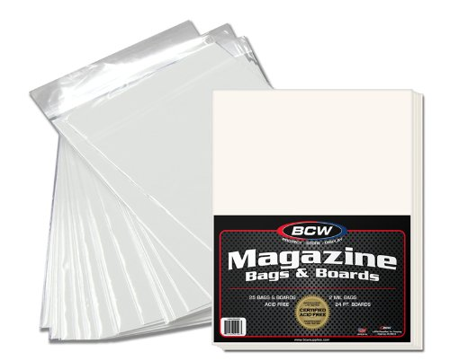 BCW 1-MAG-BAGBRD New Premade Magazine Bag and Board