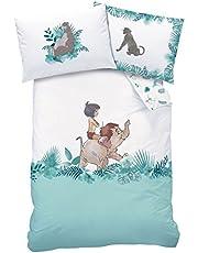 CTI Parure de lit bébé Jungle de Livre de la Jungle 100x 135cm 100% Coton