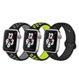 YC YANCH Greatou Compatible for Apple Watch Band,Soft Silicone Sport Band Replacement Wrist Strap Compatible for iWatch Apple Watch Series 4/3/2/1,Nike+,Sport,Edition,38mm 40mm S/M