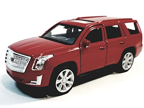 (Welly Fire Red 2017 Cadillac Escalade SUV 1/38 O Scale Diecast Car )