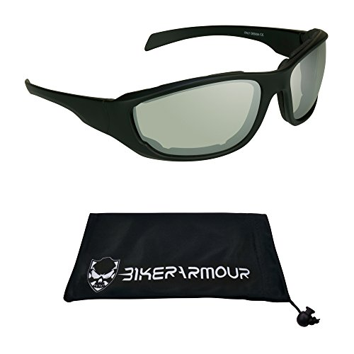 Anti Glare Motorcycle riding glasses Foam Padded for Larger Head - Riding Glasses Best
