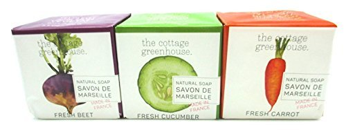 The Cottage Greenhouse set of 3 Soap Beet, Carrot and Cucumber