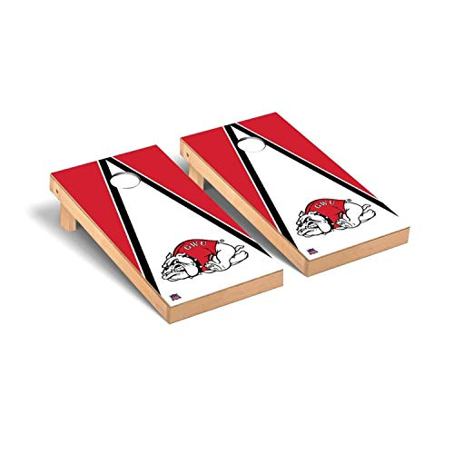 Victory Tailgate Regulation Collegiate NCAA Triangle Series Cornhole Board Set - 2 Boards, 8 Bags - Gardner Webb Bulldogs
