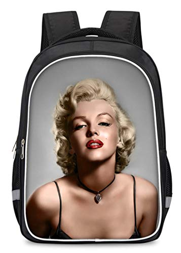 Marilyn Monroe Print Portable Camping Outdoor Backpack School Bookbag Laptop Backpack (Monroe Luggage Marilyn)