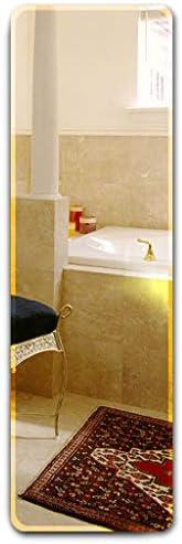 BLXFN 洋服の鏡は貼り付けて壁に取り付けることができ、フレームレスの全身鏡、丸みを帯びたエッジ、53 * 160cm