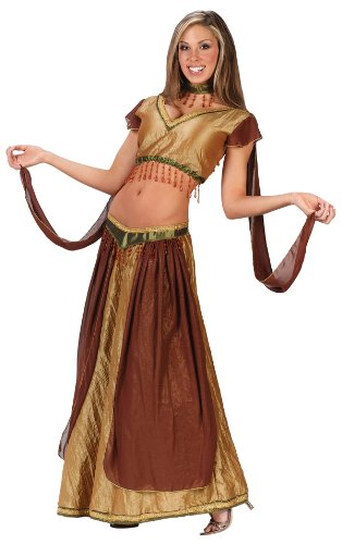[Teen Exotic Belly Dancer Costume - Juniors up to size 9] (Genie Costumes For Teens)