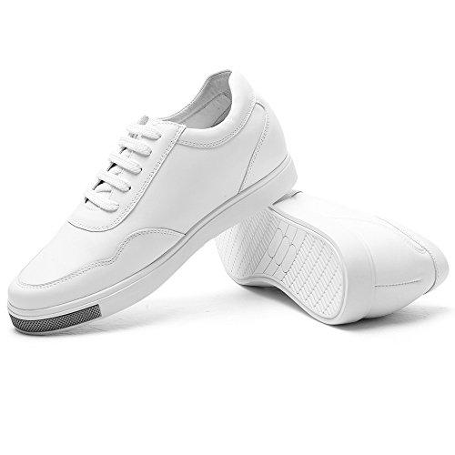 Chamaripa Rehaussante Sneakers Hauteur H71c26k175d Blanc01 Taller Noir Homme De En 6cm Respirante Chaussures Plus Pour Maille Cuir wrCTSn5qr