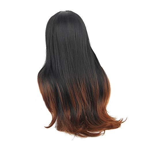Las mejores pelucas de cabello natural de regalos-moda para mujeresJumberri Mujeres coloridas Larga suelta Peluca sintética...