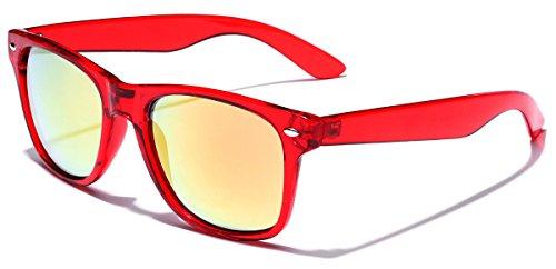 Retro 80's Fashion Sunglasses - Colorful Neon Translucent Frame - Mirrored Lens - - Fashion Retro 90s