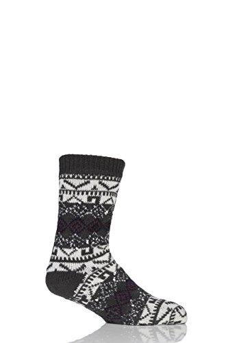 Totes Sherpa Textured Fairisle Slipper