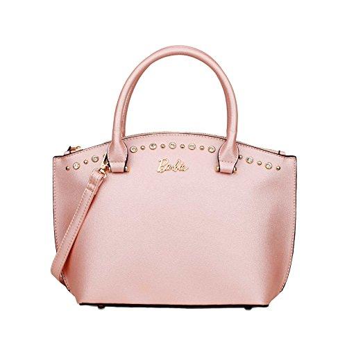 Barbie Borsa a tracolla, con manico, in PU, da Donna Ragazza Bambina, Colore Nero, Rosa, Argento, Dimensioni 33x12x24CM#BBFB544 (Rosa)