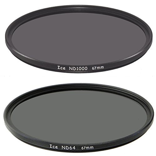 ICE 67mm Set ND1000 & ND64 Filter Neutral Density ND 1000 67 64 6 & 10 Stop Optical Glass