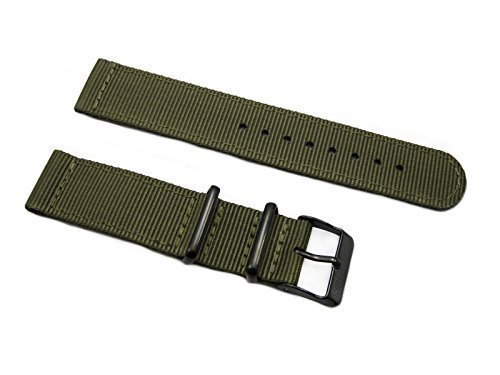 HNS-2-Pieces-24mm-Olive-G10-Mod-Ballistic-Nylon-Watch-Strap-PVD-Buckle-NT143