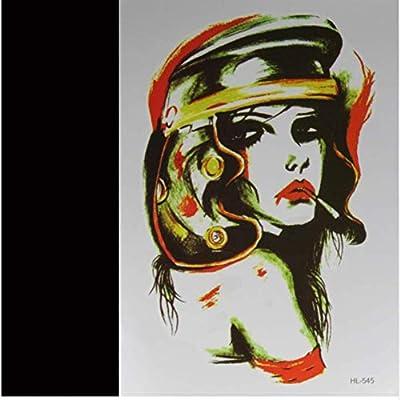 ruofengpuzi Adesivo tatuaggioModa Rock Girl Tatuaje 3D Tatuaje ...