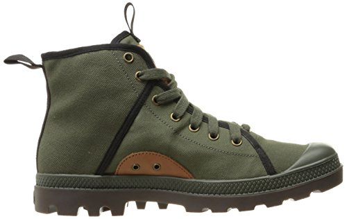 Palladium Pampa Hi 47, Zapatillas para Hombre Verde (Army Green/black/dark Gum)