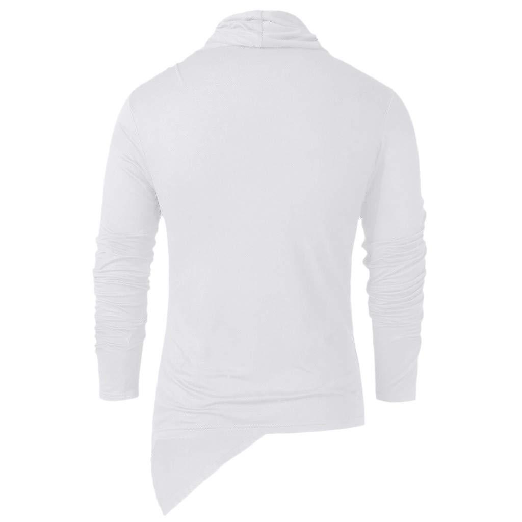 Landscap Men Shirts Vintage Asymmetric Heap Collar Shirts Hip Hop Hipster Shirts Long Sleeve Winter Irregular Tops