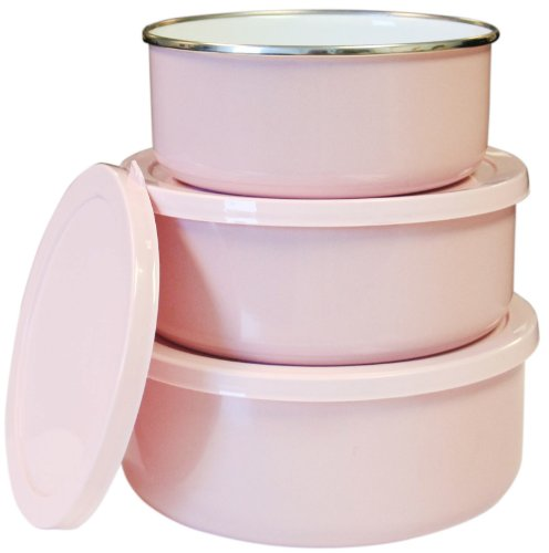 Reston Lloyd Calypso Basics 6-Piece Bowl Set, Pink