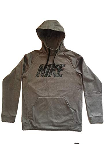 bf78eeab10a9f8 NIKE Men's Therma FIT Pullover Hoodie, (Grey Camo Nike, Medium)