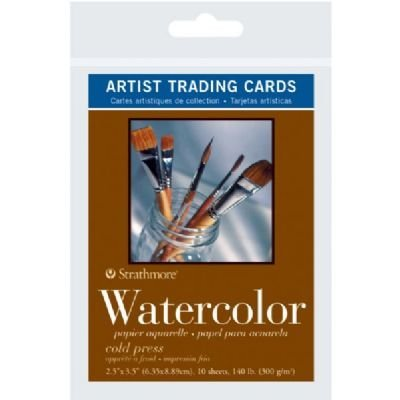 6 Pack 2.5'' x 3.5'' Cold Press Watercolor Artist Trading Cards (Product Catalog: Paper Media, Canvas & Surfaces) by Strathmore