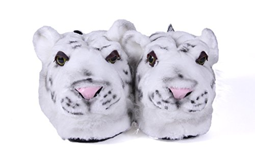 Happy Feet Slippers Animal Toddler Tiger 9002 Large White 9 wTXWqgA