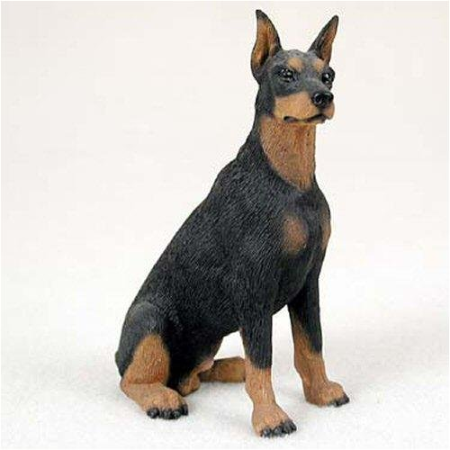Black Original Dog Figurine (Doberman, Black Original Dog Figurine (4in-5in))