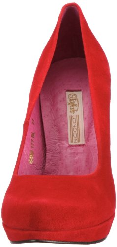 Buffalo London 9669-177 BL KID SUEDE 115652, Scarpe eleganti donna Kid Suede Red 149