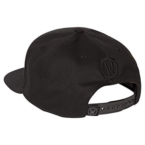 JINX-World-of-Warcraft-Blackout-Alliance-Snapback-Baseball-Hat-Black-One-Size
