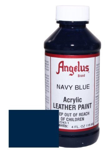 Angelus Acrylic Leather Paint-4oz.-Navy ()