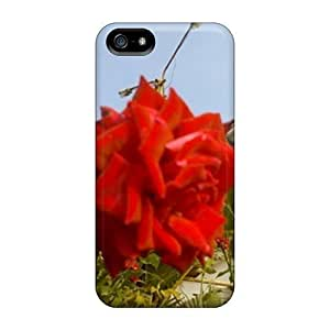 PC For SamSung Galaxy S6 Case Cover Strong Protect CaDewy Red Rose Design