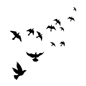 witkey flying black bird flying high to sky 3d removable vinyl wall