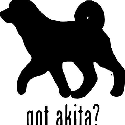 - Animal GOT Akita Dog 1 (Black) (Set of 2) Premium Waterproof Vinyl Decal Stickers for Laptop Phone Accessory Helmet Car Window Bumper Mug Tuber Cup Door Wall Decoration