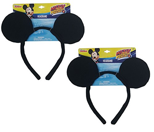 Genuine UPD Mickey Mouse Classic Ear Shaped Headband Disney Official Licensed (2 pack) (Mickey Mouse Ears Costume)