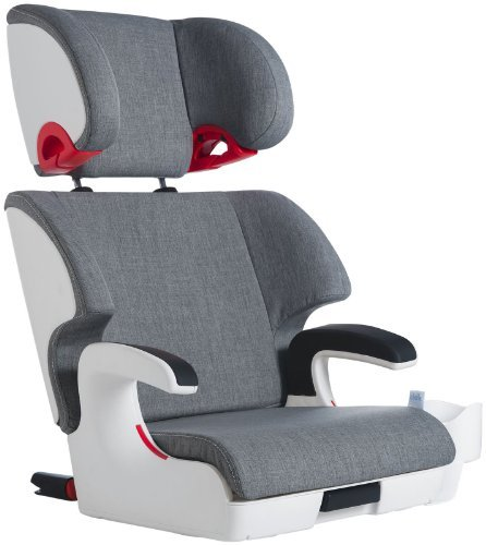 Clek Oobr High Back Booster Car Seat with Recline and Rigid Latch, Cloud