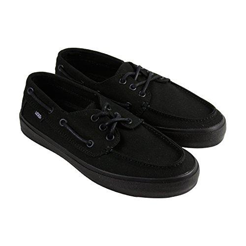 Vans Chauffeur Sf Mens Black Canvas Casual Dress Lace Up Boat Shoes Shoes 6.5
