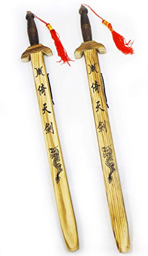 [Set of Two Swords with Sheaths Red Tassels] (Good Teenage Girl Halloween Costumes)